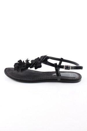 afaffinites Sandalo toe-post nero stile casual