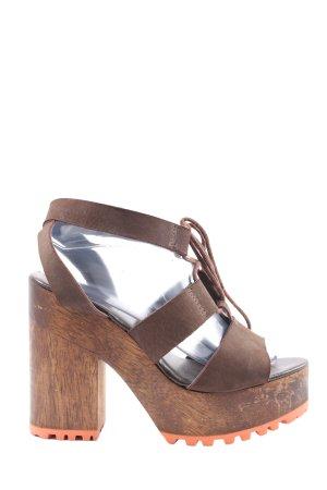afghan Platform High-Heeled Sandal brown casual look