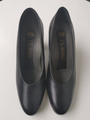 afis Wedge Pumps black leather