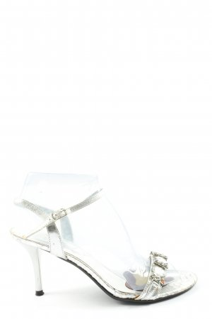 Afrodita Tacones sin talón gris claro elegante