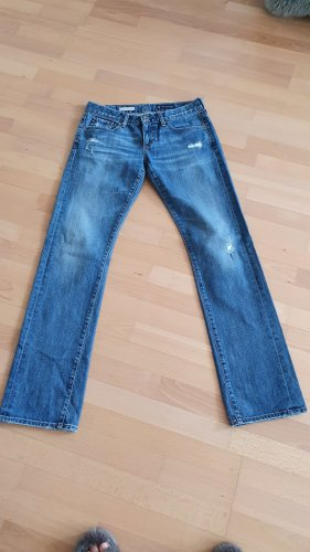 AG Jeans Vaquero boyfriend azul oscuro tejido mezclado