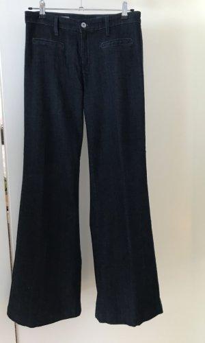 AG Jeans Pantalon taille haute bleu foncé coton