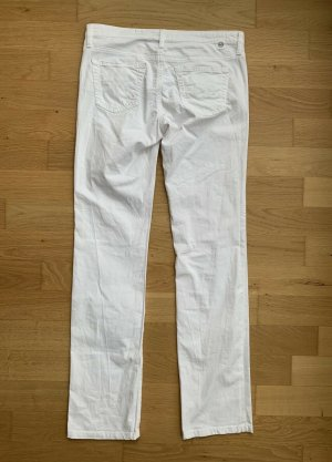 Adriano Goldschmied Boot Cut Jeans white cotton