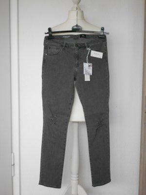 AG Jeans Vaquero slim gris oscuro Algodón