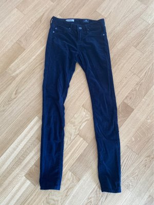 Adriano Goldschmied Pantalon en velours côtelé bleu foncé