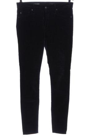 AG Pantalone a vita bassa nero stile casual
