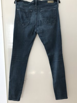 AG Jeans Skinny Jeans slate-gray cotton