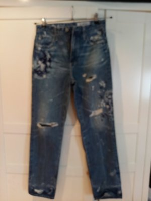 AG Jeans Boot Cut Jeans blue mixture fibre