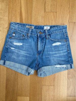AG Jeans Pantalón corto de tela vaquera azul celeste Algodón