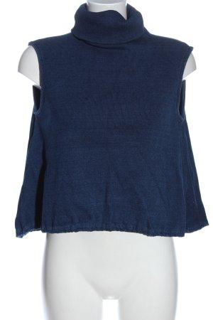 AG Maglia a collo alto blu stile casual