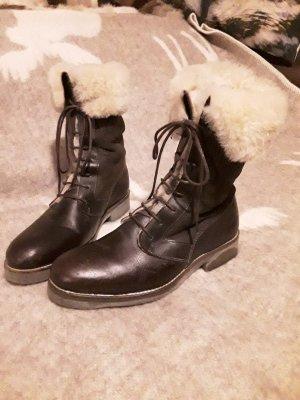 Aigle Futrzane buty brąz Skóra