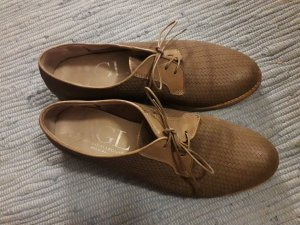 AGL Chaussures à lacets marron clair