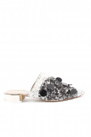 AGL Heel Pantolettes silver-colored casual look