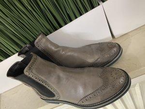 AGL Bottines à enfiler gris-gris brun cuir