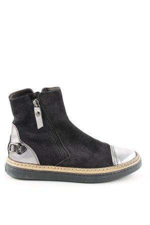 AGL Botte courte noir-gris clair style décontracté