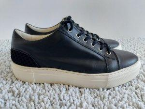 AGL Baskets semelle plateforme  blanc-noir cuir