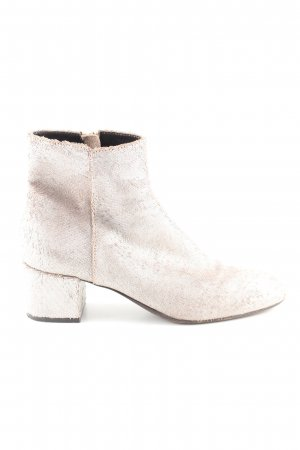 AGL Zipper Booties natural white casual look