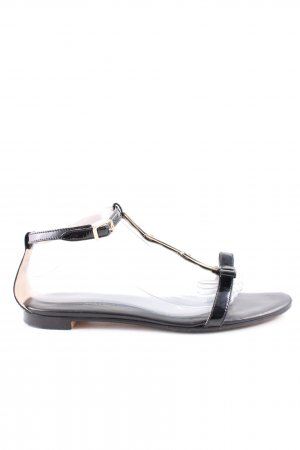 AGL Strapped Sandals black-gold-colored casual look