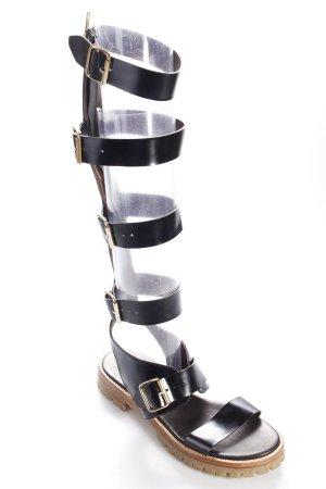 AGL Römer-Sandalen schwarz Street-Fashion-Look