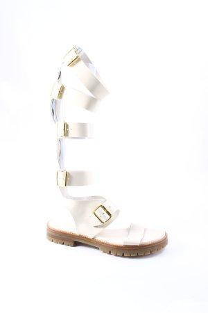 AGL Roman Sandals natural white-oatmeal street-fashion look