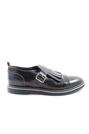 AGL Buty wciągane czarny W stylu biznesowym