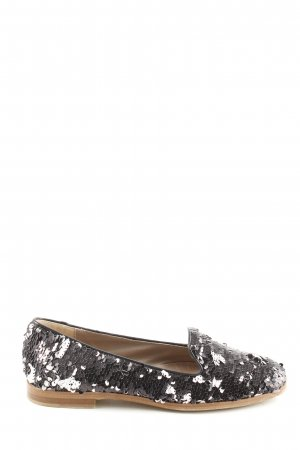 AGL Slip-on Shoes black-silver-colored extravagant style