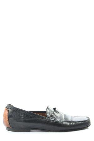 AGL Buty wciągane czarny-brązowy W stylu biznesowym