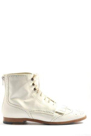 AGL Stivaletto stringato bianco stile casual