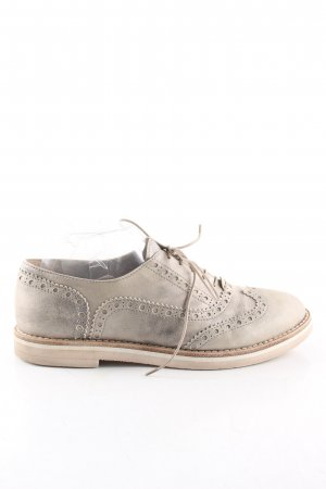 AGL Lace Shoes silver-colored business style