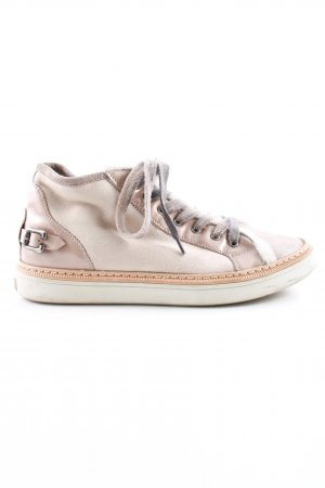 AGL Sneaker stringata bianco sporco-color carne stile casual