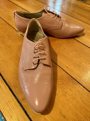AGL Wingtip Shoes rose-gold-coloured