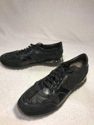 AGL Sneakers met veters zwart-goud