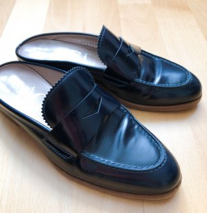 AGL Slippers dark blue leather