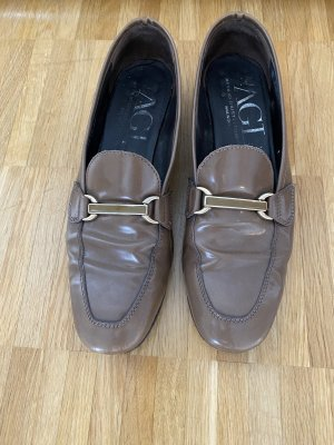 AGL Mocassins marron clair