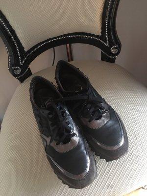 AGL Sneaker stringata nero-argento Pelle