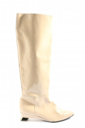 AGL Wide Calf Boots nude casual look