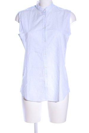 Aglini ärmellose Bluse weiß Streifenmuster Business-Look