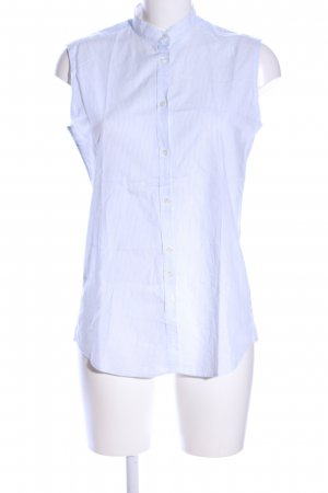 Aglini Blusa sin mangas blanco estampado a rayas estilo «business»