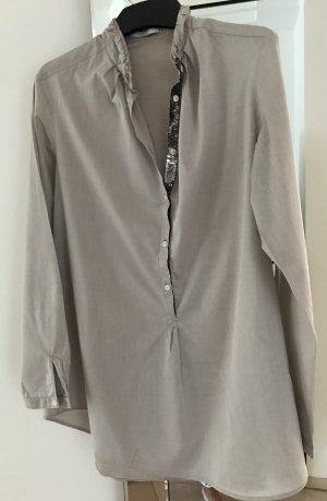 Aglini Blusa de manga larga gris claro