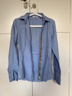 Aglini Blusa-camisa azul celeste Algodón