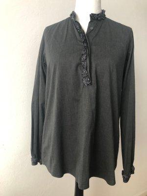 Aglini Camicetta lunga grigio scuro-antracite Cotone