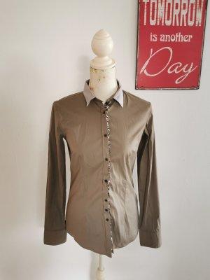 Aglini Camicia blusa marrone-grigio-bronzo Cotone
