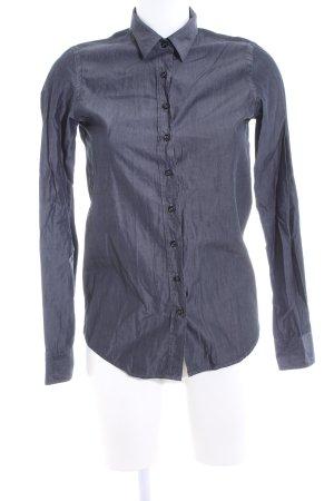 Aglini Hemd-Bluse blau Business-Look