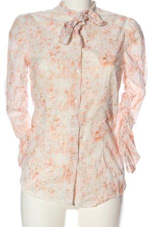 Aglini Shirt Blouse natural white-light orange allover print business style