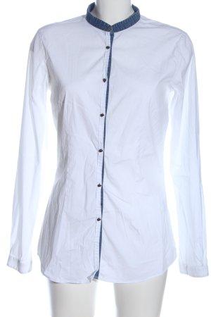 Aglini Blusa-camisa blanco look casual