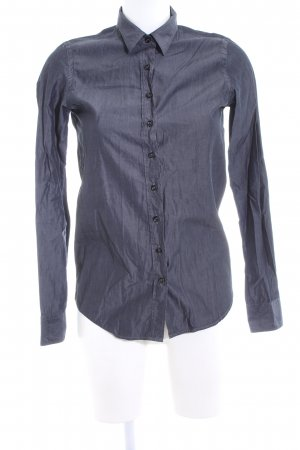 Aglini Hemd-Bluse blau Business-Look