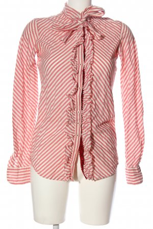 Aglini Shirt Blouse pink-natural white striped pattern casual look