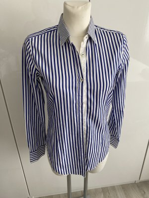 Aglini Camicia blusa bianco-blu scuro