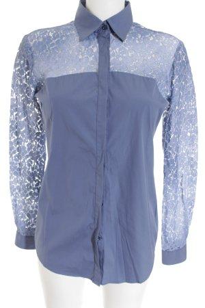 Aglini Hemd-Bluse graublau Casual-Look