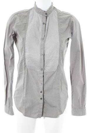 Aglini Blusa-camisa gris verdoso estilo «business»